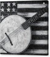American Banjo Black And White Acrylic Print