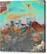American Indian Home In Abstract Acrylic Print