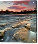 American River Parkway At Sunset Acrylic Print