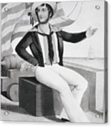 American Sailor Lithograph Acrylic Print