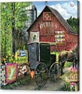 Amish Quilts Acrylic Print