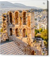 Amphitheater Of The Acropolis Of Acrylic Print