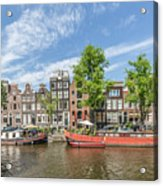 Amsterdam Prinsengracht Houseboats Acrylic Print