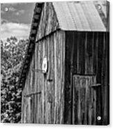 An American Barn Bw Acrylic Print