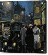 An Evening Stroll On The Boulevard Acrylic Print