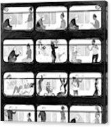 An L Train Love Story Acrylic Print