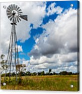 An Old Vintage Windmill Used To Pump Acrylic Print