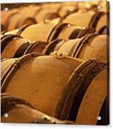 An Old Wine Cellar Full Of Barrels Acrylic Print