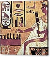 Ancient Egyptian Queen Nefetari Playing Acrylic Print