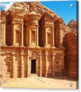 Ancient Temple In Petra, Jordan Acrylic Print