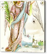 Angel  Carrying A Palm Branch Acrylic Print