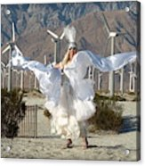Angel Swirling In The Desert Acrylic Print