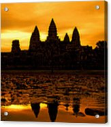 Angkor Wat At Sunrise Acrylic Print