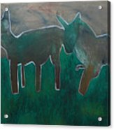 Animals In A Field Acrylic Print