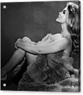Ann-margret In Profile Pose And Wrapped Acrylic Print