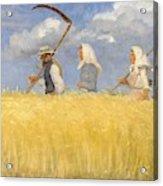Anna Ancher - Harvesters Acrylic Print