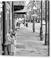Antique Alley In Black And White Acrylic Print
