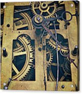 Antique Clock Gears, Cog And Parts Acrylic Print