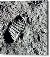 Apollo 11 Mission Leaves First Acrylic Print
