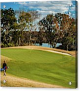 Approaching The 18th Green Acrylic Print