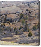 April Badlands Near Amidon Acrylic Print