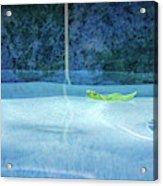 Aqua Agua And Leaf Acrylic Print