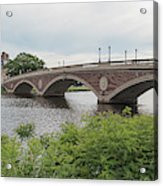 Arch Bridge Over River, Cambridge Acrylic Print