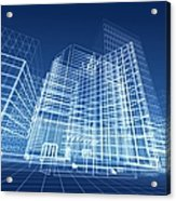 Architectural Blueprint Designs For Acrylic Print