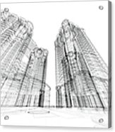 Architecture Sketch Acrylic Print
