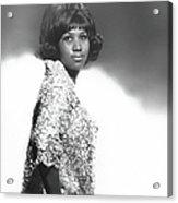 Aretha Franklin Portrait Acrylic Print