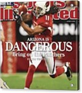 Arizona Cardinals Larry Fitzgerald, 2009 Nfc Wild Card Sports Illustrated Cover Acrylic Print