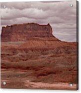 Arizona Red Clay Painted Desert Panoramic View Acrylic Print