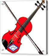 Arkansas State Fiddle Acrylic Print