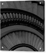 Arlington Stairs Layers Grayscale Acrylic Print