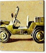 Army Jeep Acrylic Print