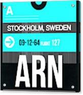 Arn Stockholm Luggage Tag II Acrylic Print