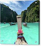 Arriving In Phi Phi Island, Thailand Acrylic Print