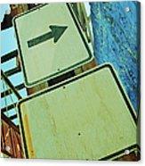 Arrow Sign Acrylic Print