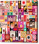 Art Collage, Musical Vector Acrylic Print