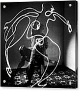 Artist Pablo Picasso Painting With Acrylic Print
