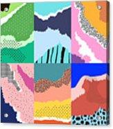 Artistic Background.modern Graphic Acrylic Print