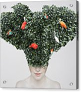Artistic Surreal Portrait Of A Girl Acrylic Print