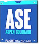 Ase Aspen Luggage Tag II Acrylic Print