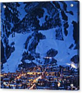 Aspen Mountain, Winter Acrylic Print