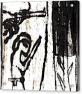 Assassin After Mikhail Larionov Black Oil Painting 10 Acrylic Print