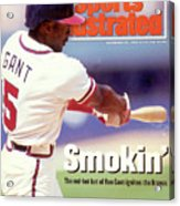 Atlanta Braves Ron Gant... Sports Illustrated Cover Acrylic Print