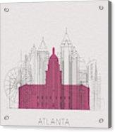 Atlanta Landmarks Acrylic Print
