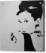 Audrey B W Acrylic Print