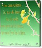 Audubon Warbler Quote Acrylic Print