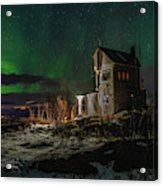 Aurora Over The Radio Station Acrylic Print
